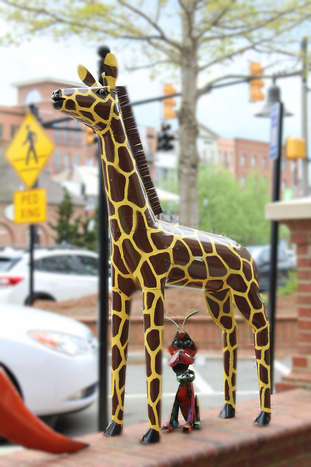 metal yard art metal animals hippie boho giraffe