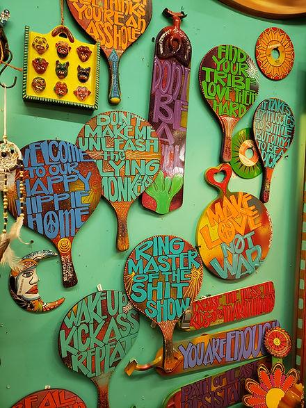 witty hippie signs art