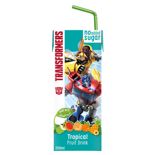 Transformers Tropical No Added Sugar Fruit Tetra Drink 200ml
