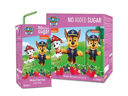 Appy Kids Co Paw Patrol Mixed Berries No added sugar Fruit drink 200ml