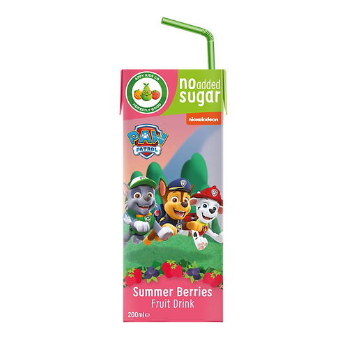 Appy Kids Co Paw Patrol Summer Berries Fruit Drink 200ml