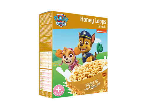 Appy Kids Co Paw Patrol Honey Loops Cereals With Vitamins 200g