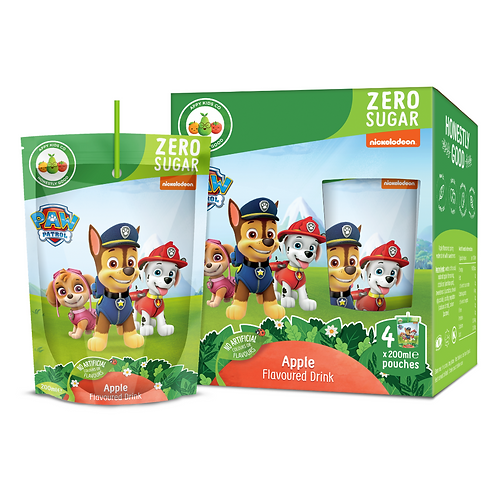 Paw Patrol Zero Sugar Apple Fruit Flavoured Pouch Drink 200ml
