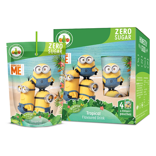 Appy Kids Co Minions Zero Sugar Tropical Fruit Flavoured Drink 200ml