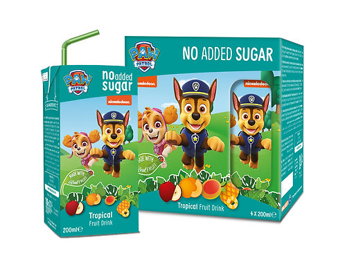 Appy Kids Co Paw Patrol Tropical No Added Sugar Fruit Drink 200ml