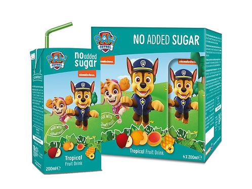 Appy Kids Co Paw Patrol Tropical No Added Sugar Fruit Drink 200ml