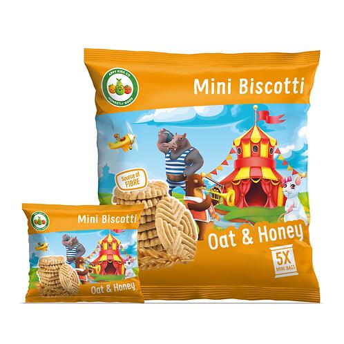 Appy Kids Co Oat and Honey Mini Biscotti 5x20g