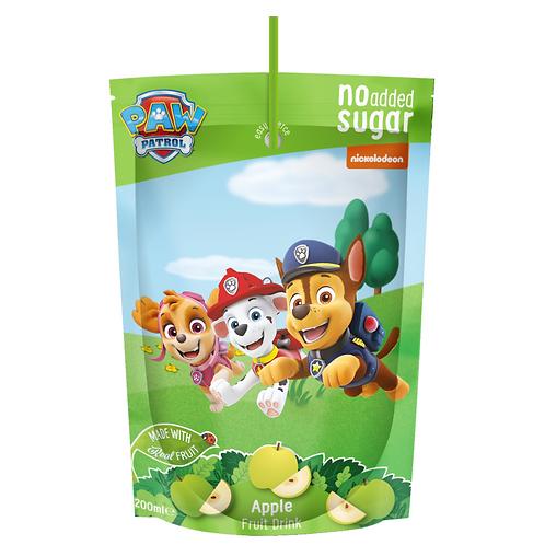 شركة Appy Kids Co بدون كيس سكر مضاف: Paw Patrol 200ml Apple Fruit Drink