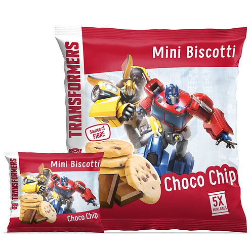 Appy Kids Co Transformers Choco Chip Mini Biscotti 5x20g