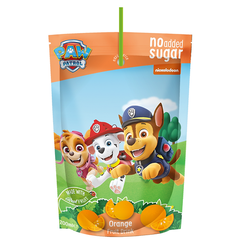 Appy Kids Co Paw Patrol No Added Sugar Orange Fruit Drink 200ml