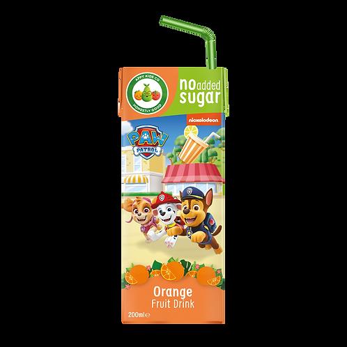 Appy Kids Co Paw Patrol Orange Fruit Drink 200ml