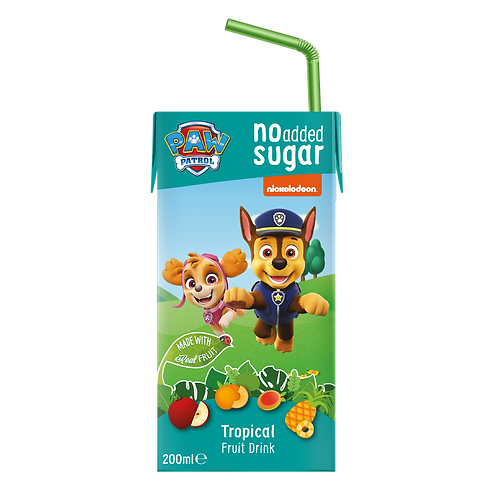 Paw Patrol Tropical No Added Sugar Fruit Tetra Drink 200ml