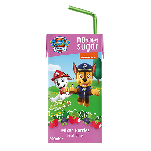 Paw Patrol Mixed Berries No added Sugar Fruit Tetra Drink 200ml