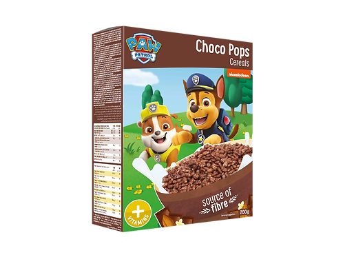 Appy Kids Co Paw Patrol Choco Pops Cereals With Vitamins 200g