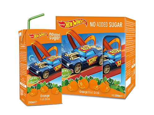 Hot Wheels Orange No Added Sugar Fruit Tetra Drink 200ml