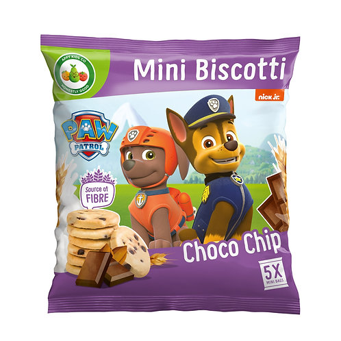 Appy Kids Co Paw Patrol Choco Chip Mini Biscotti 5x20g