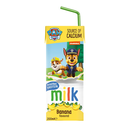 Appy Kids Co Paw Patrol Banana Flavoured Milk 200ml