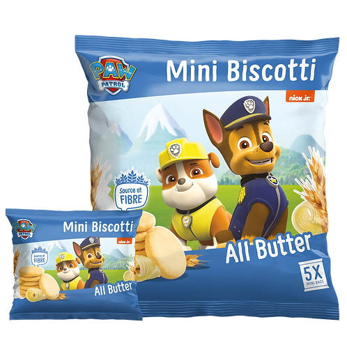Appy Kids Co Paw Patrol All Butter Mini Biscotti 5 pack