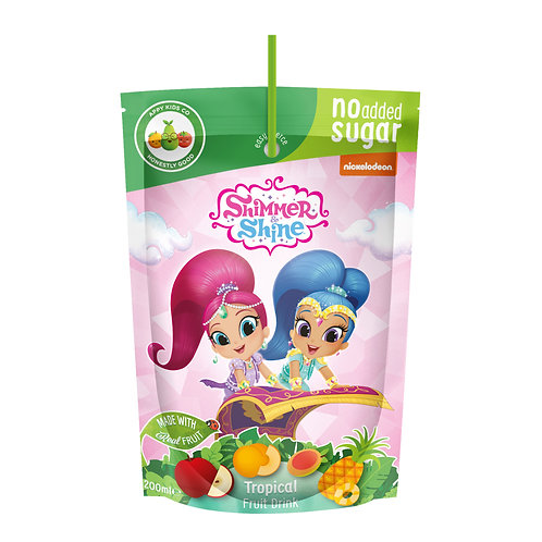 Appy Kids Co Shimmer & Shine No Added Sugar Tropical Fruit Drink 200ml