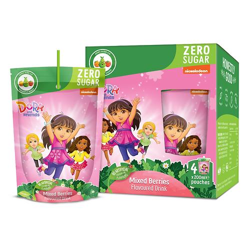 Appy Kids Co Dora Zero Sugar Mixed Berries Fruit Flavoured Drink 200ml