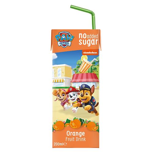 Appy Kids Co Paw Patrol لا يضاف سكر الفاكهة شراب البرتقال