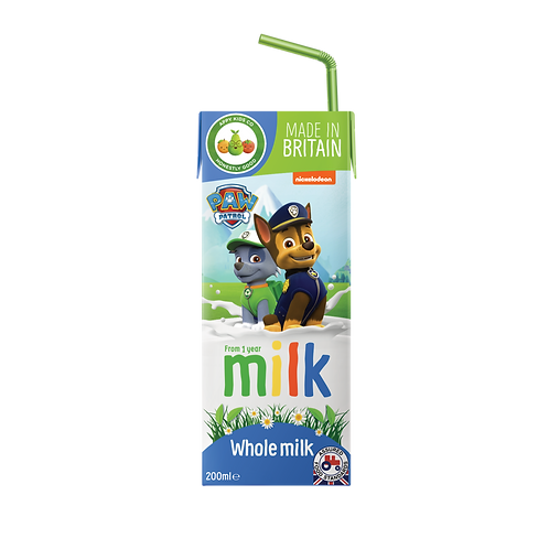 Appy Kids Co Paw Patrol Whole Milk 200ml