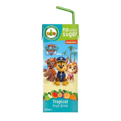 Appy Kids Co Paw Patrol Tropical Fruit Drink 200ml
