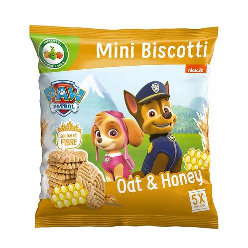 Appy Kids Co Paw Patrol Oat and Honey Mini Biscotti 5x20g