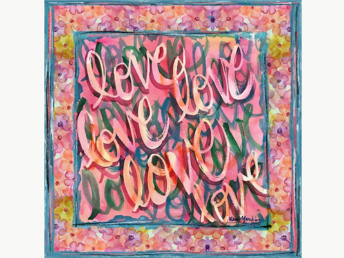 Love - Pink Challis