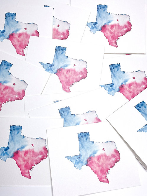 Note cards - Texas