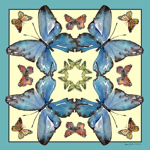 Silk Scarf - Butterfly Kaliedascope
