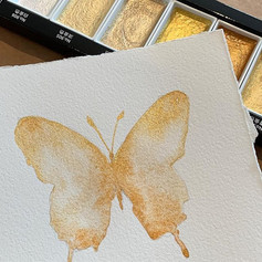 Gold luster butterfly with the new metal