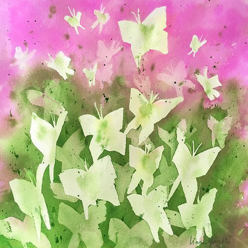 Butterfly Kaleidoscope Pink