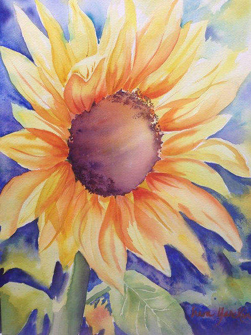 sunflower, contempory art, original art