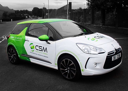 CSM Design and Media Car Wrap