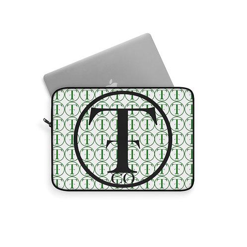 TNTCO White Laptop Sleeve (Green)