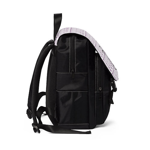TNTCO. White Unisex Casual Shoulder Backpack (Purple)