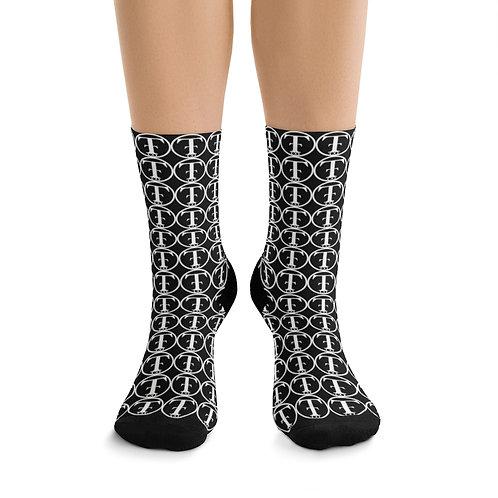 TNTCO Black DTG Socks (White)