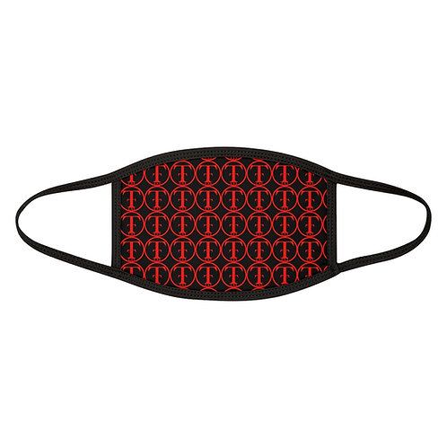 TNTCO Mixed-Fabric Face Mask (Red)