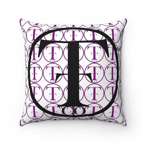 TNTCO Spun Polyester Square Pillow (Purple)