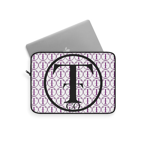 TNTCO White Laptop Sleeve (Purple)