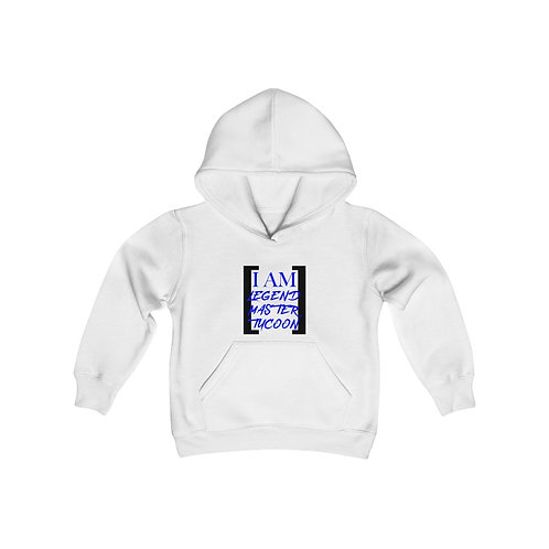 I Am LMT Youth Heavy Blend Hooded Sweatshirt (Blue)