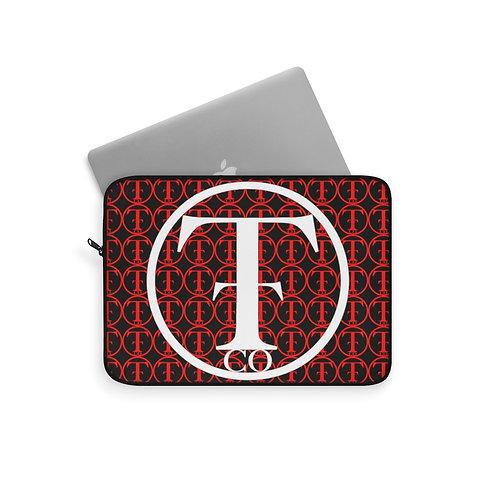 TNTCO Black Laptop Sleeve (Red)