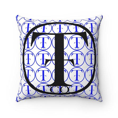 TNTCO Spun Polyester Square Pillow (Blue)