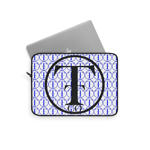 TNTCO White Laptop Sleeve (Blue)