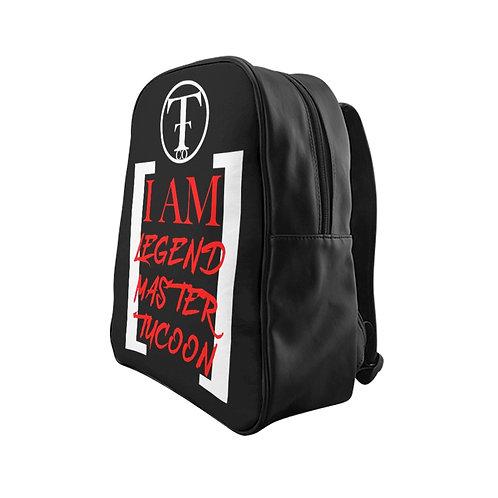 I Am LMT Black School Backpack (Red)