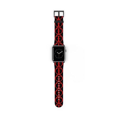 TNTCO Black Watch Band (Red)