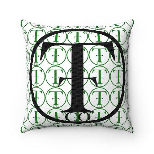 TNTCO Spun Polyester Square Pillow (Green)