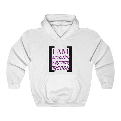 I Am LMT Men's Heavy Blend Hooded Sweatshirt (Purple)
