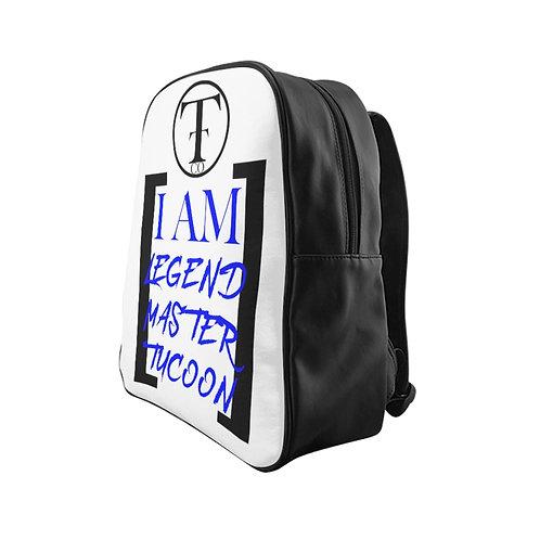 I Am LMT White School Backpack (Blue)